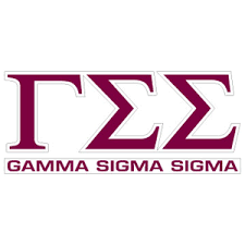 Greek Store Gamma Sigma Sigma Letters Over Name Decal Greek Clothing