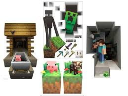 Minecraft Themed Vinyl 3D Wall Decals Stickers Game Room Decor Free Shipping Unbranded