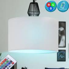 etc shop led pendelleuchte hänge leuchte esszimmer küchen decken le schwarz weiß stoff im set inkl rgb led leuchtmittel kaufen otto