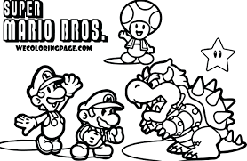 Free Mario Kart Coloring Pages Online Bros Sheets Super Pack Scene Page Full Size