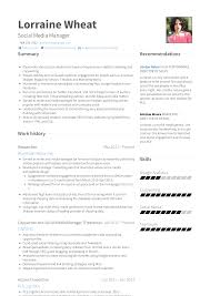 Social Media Manager - Resume Samples And Templates | VisualCV Social Media Manager Resume Lovely 12 Social Skills Example Writing Tips Genius Pdf Makeover Getting Riley A Digital Marketing Job Codinator Objective 10 To Put On Letter Intern Samples Velvet Jobs Luxury Milton James Template Workbook Package Ken Docherty Computer For Examples Floatingcityorg Write Cover Career Center Usc