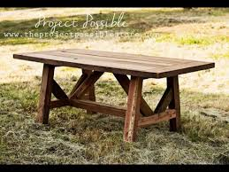 How To DIY Rustic Farm Style Table