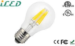 2200k 2700k 4000k 60000k dimmable filament led bulb e26 6w a60 a19
