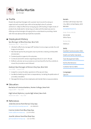 Spa Manager Resume Templates 2019 (Free Download) · Resume.io Veterinary Rumes Bismimgarethaydoncom How To Write The Perfect Administrative Assistant Resume 500 Free Professional Examples And Samples For 2019 Entry Level Template Guide 20 Example For Teachers 10 By People Who Got Hired At Google Adidas 35 2018 Format Sample Photo Ideas 9 Best Formats Of Livecareer Tremendous Of Rumes Image Your Job Application Restaurant Sver Leading 12
