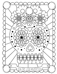 Free Printable Day Of The Dead Coloring Pages With