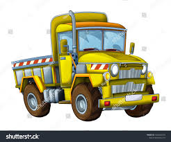 Cartoon Happy Funny Construction Site Truck Stock Illustration ...