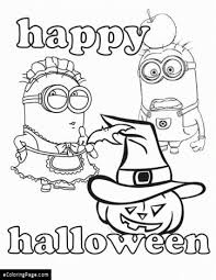 Halloween Minions Coloring Page