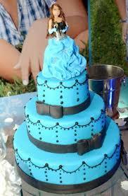 Princess Theme 3 Tier Blue 15th Birthday Cake JPG Hi Res 720p HD