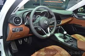 Alfa Romeo Giulia interior at the 2016 Geneva Motor Show Live