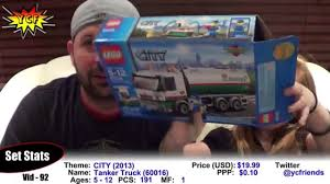 100 Lego Tanker Truck LEGO CITY Set Review LEG0 60016 New Video Dailymotion