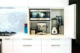 Appliance Storage Cabinet Coffee Machines Excellent In Wall Machine Pictures Design Maker Hair Dryer