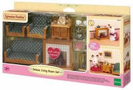 sylvanian families wohnzimmer und tv set sofa fernseher