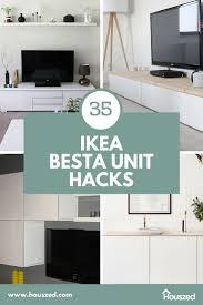 35 ikea besta unit ideas hacks in 2021 houszed