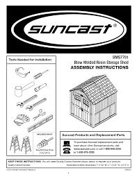 suncast bms7791 instructions assembly