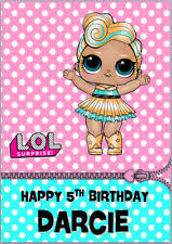 Lol Dolls Luxe Lil Sister Surprise Birthday Card A5 Personalised Any Wording