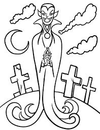 Printable Vampire Coloring Sheet