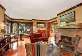 amerikanischen klassischen wohnzimmer inter design mit antiken möbeln northwest usa