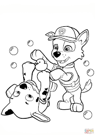 Click The Paw Patrol Rocky And Marshall Coloring Pages