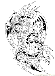 Free Printable Dragon Coloring Pages Adult