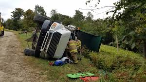 Dump Truck Driver Hospitalized With Serious Injuries After Rollover ...