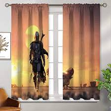 pattern curtains blackout 55x45 inch wars the mandalorian 2019 a9 thermal insulated soundproof curtain