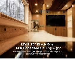2x70mm 12v led recessed light rv caravan cabin cabinet