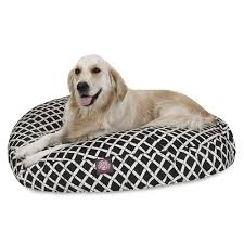 large round pet bed red bamboo majestic pet