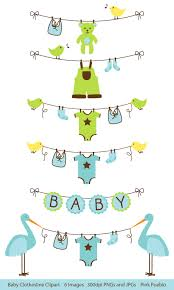 Baby Boy Clothesline Clipart Clip Art Baby Shower Clip Art