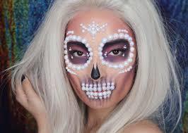 Easy Sugar Skull Day Of by Pearl Sugar Skull Makeup Tutorial People Com