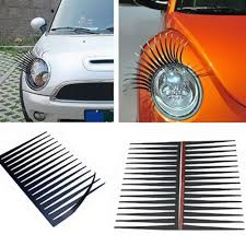 100 Mini Truck Stickers 2Pcs Cute Lovely Car Headlight Eyelash Sticker 3D Decoration