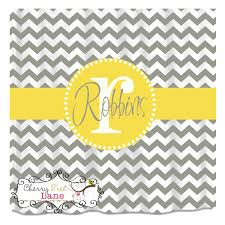 Yellow And White Chevron Curtains by Wall Decor Wonderful Grey And White Chevron Curtains For Shower