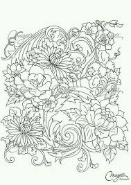 Flower Coloring Pages Mexican Embroidery Flowers Adult Colouring In Florals Floral Blossoms