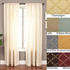 120 Inch Long Sheer Curtain Panels by Medici Trellis Embroidered 120 Inch Curtain Panel 55 X 120