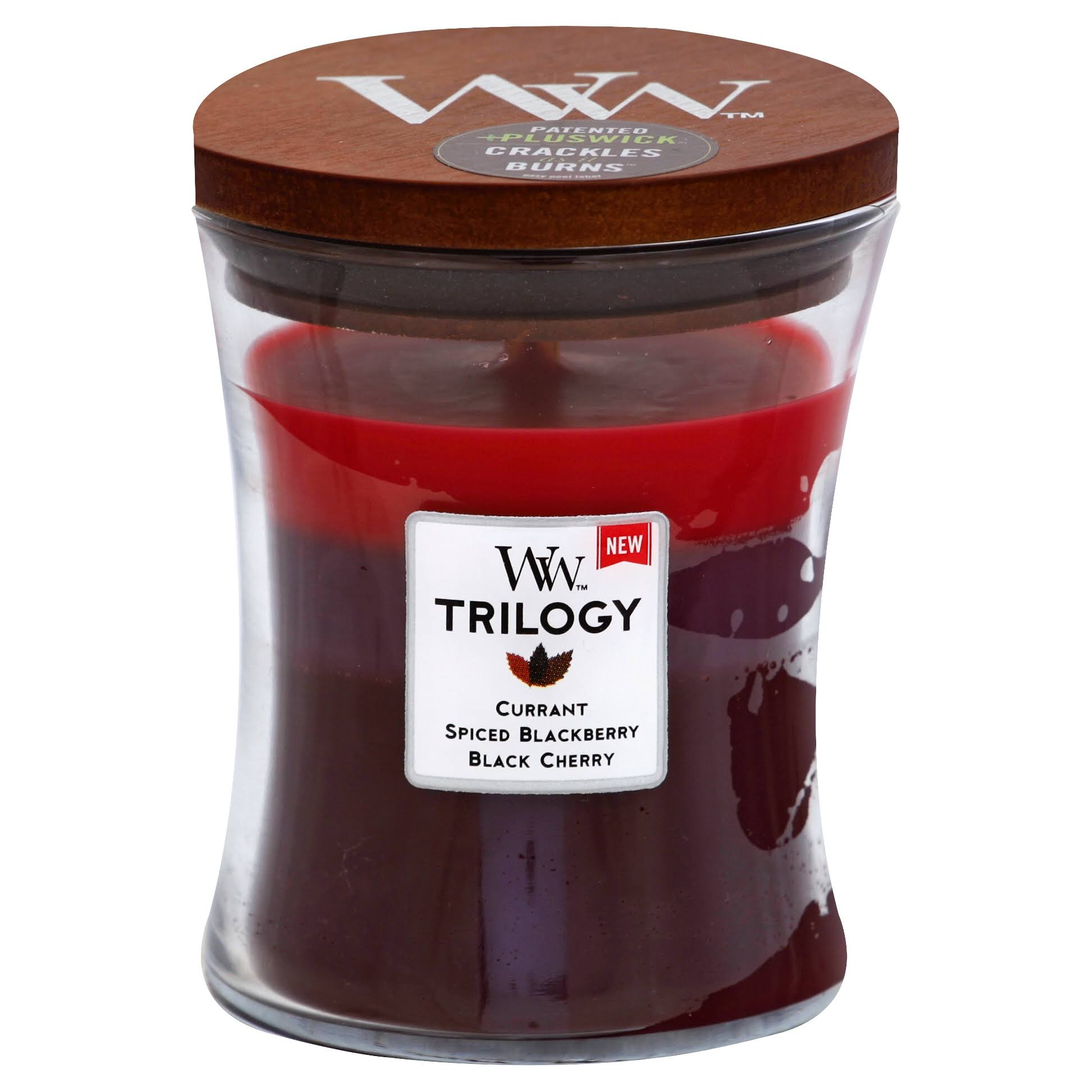 WoodWick Candle, Sun Ripened Berries Trilogy - 1 candle, 9.7 oz