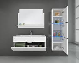 details zu home deluxe badmöbel badezimmermöbel badezimmer waschtisch schrank spiegel set