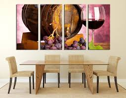 Canvas Wall Art For Dining Room by 4 Piece Artwork Wine Canvas Wall Art Wine Glass Huge Canvas