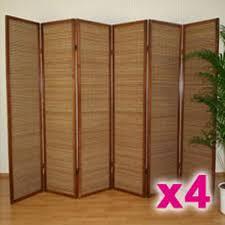 separateur de chambre lot de paravents séparateur de pièces bois et b achat vente