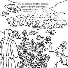 Jesus Feeds 5000 Coloring Page Men Home Plan
