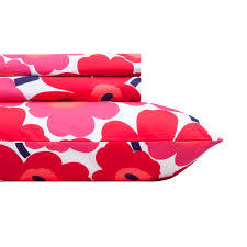 Twin Xl Fitted Sheets For Adjustable Bed by Marimekko Red Pieni Unikko Sheet Set Twin Xl 50 Off Or More