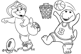 Barney Coloring Pages Pictures