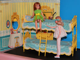 skipper n skooter double bunk beds and ladder barbie friends