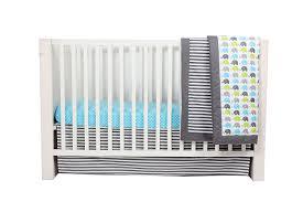 Bacati Crib Bedding by Bacati Elephants Aqua Lime Grey 10 Pc Crib Set Including Bumper Pad