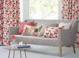 You Might Think That The Combination Of Grey And Red Is Straight Out 80s Best Avoided But Choose A Soft Shade Fabric Patterns With