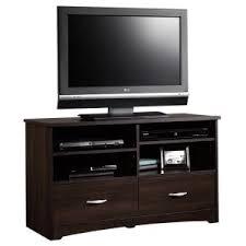 amazon com sauder beginnings tv stand with drawers cinnamon