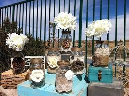 Bulk Wedding Decor Rustic Decorations Wholesale Burlap Lace Quart Mason Jars