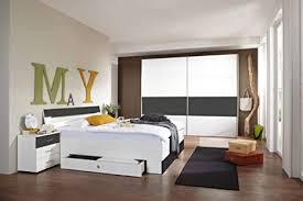 lifestyle4living schlafzimmer komplett set in weiß und grau