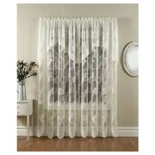 comfort bay anna lace panel with attached valance 58 x 84