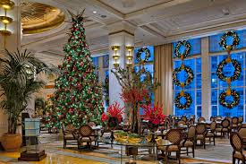 Chicago Christmas Tree Recycling by The Lobby At The Peninsula Chicago With Holiday Decor Holiday