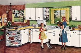 This Kitchen Ad Shows The Youngstown Cabinets With Quarter Circle Half Shelf