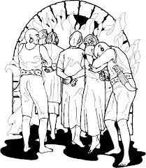 Fiery Furnace Bible Coloring Page